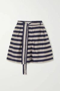 Rebecca Vallance - Nautique Striped Woven Shorts - Black