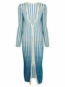 Jacquemus long striped cardigan - Blue