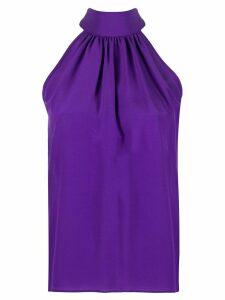 Jejia halterneck silk blouse - PURPLE