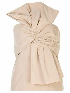 Givenchy oversized bow bustier top - NEUTRALS