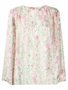 Giambattista Valli floral print silk blouse - NEUTRALS