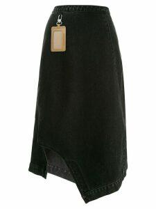Ground Zero asymmetrical denim midi skirt - Black