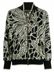 Alberta Ferretti geometric pattern cardigan - Black