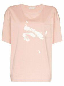Vika Gazinskaya contrast print T-shirt - PINK