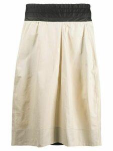 Plan C contrast panel skirt - NEUTRALS