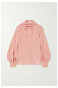 Chloé - Tie-neck Pinstriped Silk Blouse - Pink