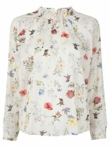 Tomorrowland floral-print blouse - White