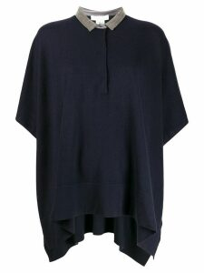 Fabiana Filippi oversized polo jumper - Blue