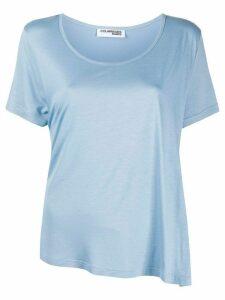 Courrèges asymmetric hem T-shirt - Blue