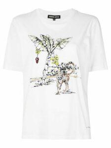 Markus Lupfer leopard print T-shirt - White