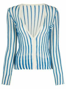 Jacquemus striped cardigan - Blue