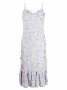 Michael Michael Kors floral midi dress - PURPLE