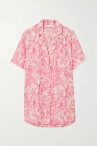 Faithfull The Brand - Charlita Tie-dyed Linen Shirt - Pink