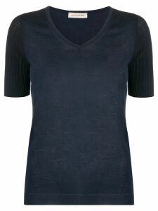 Gentry Portofino ribbed knit top - Blue