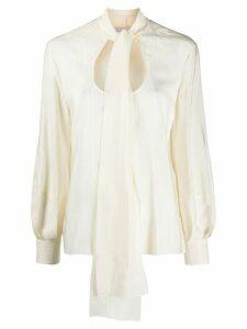 Chloé scoop-neck blouse - NEUTRALS
