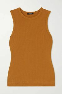 GOLDSIGN - + Net Sustain Ribbed Stretch-jersey Tank - Mustard