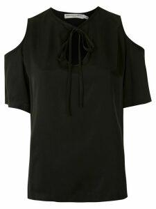 Reinaldo Lourenço tie neck blouse - Black