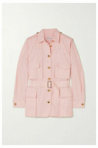 Max Mara - Orfeo Belted Cotton Shirt - Pink