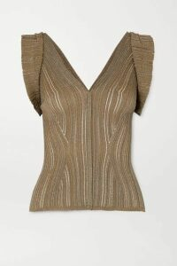 Chloé - Ribbed Lurex Top - Bronze
