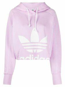 adidas logo print hoodie - PURPLE