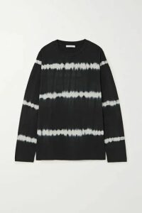 Ninety Percent - Tie-dyed Organic Cotton-jersey Top - Black