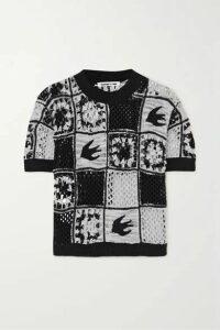 McQ Alexander McQueen - Kaio Patchwork Crocheted Cotton T-shirt - Black