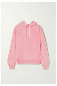 Ninety Percent - Paneled Organic Cotton-jersey Hoodie - Pink