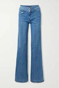 Veronica Beard - Ember High-rise Wide-leg Jeans - Mid denim
