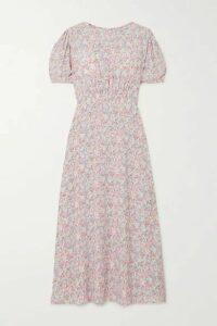 Faithfull The Brand - Beline Floral-print Crepe Midi Dress - Baby pink