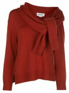 Monse tie-sleeve neck jumper - Red