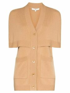 Tibi tiered cashmere cardigan - Brown