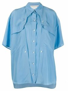 Stella McCartney oversized button-panel shirt - Blue