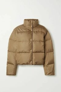 Acne Studios - + Net Sustain Cropped Quilted Shell Down Jacket - Light brown