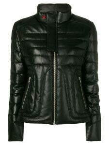 Perfect Moment padded leather jacket - Black