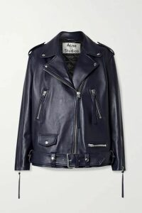Acne Studios - Oversized Leather Biker Jacket - Midnight blue