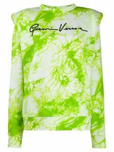 Versace tie-dye Gianni sweatshirt - Green