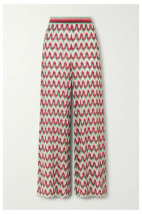 Missoni - Crochet-knit Lurex Wide-leg Pants - Red
