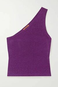 Missoni - One-shoulder Lurex Top - Purple