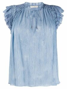Ulla Johnson Clea crinkled blouse - Blue