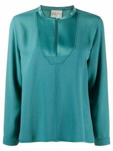 Forte Forte embellished bib blouse - Blue