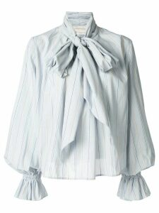 Karen Walker Denali striped bow blouse - Blue