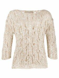 Gentry Portofino loose knit jummper - NEUTRALS