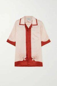 Casablanca - Printed Silk-satin Shirt - Red