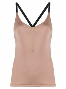 Filippa K Soft Sport gathered strap top - Brown