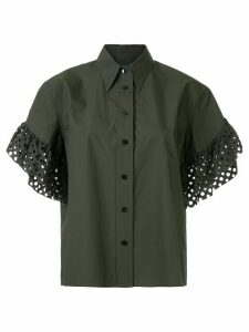 Kolor perforated sleeves shirt - Green