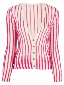 Jacquemus striped cardigan - White