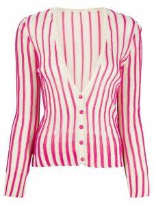 Jacquemus striped cardigan - White