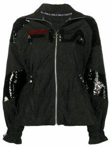 Fila sequin-embellished logo jacket - Black