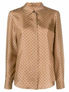 Alberto Biani silk long sleeve shirt - Brown