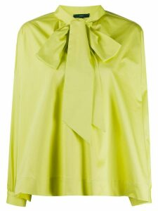Jejia boxy fit pussy bow shirt - Green